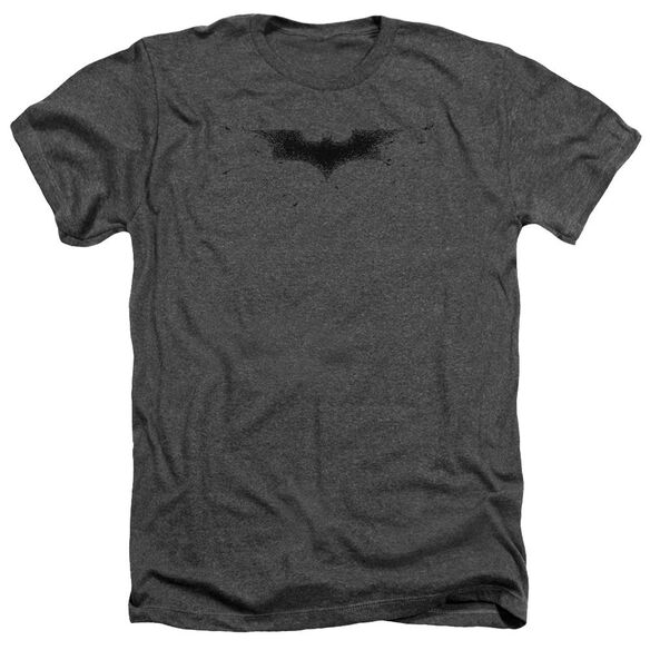 Dark Knight Bats Logo Adult Heather