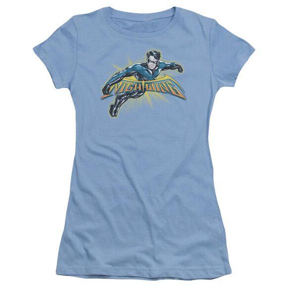 Batman Nightwing Burst Short Sleeve Junior Sheer Carolina T-Shirt