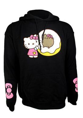 Hello Kitty X Pusheen Cat Donut Hoodie