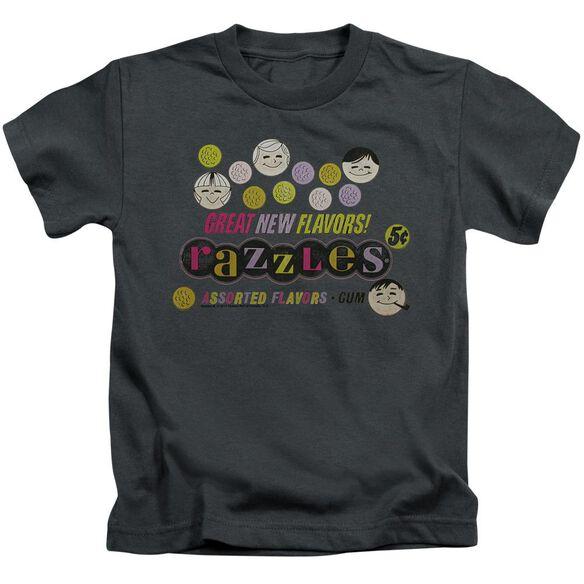 Dubble Bubble Razzles Retro Box Short Sleeve Juvenile Charcoal T-Shirt