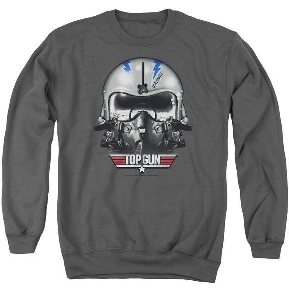 Top Gun Iceman Helmet Adult Crewneck Sweatshirt