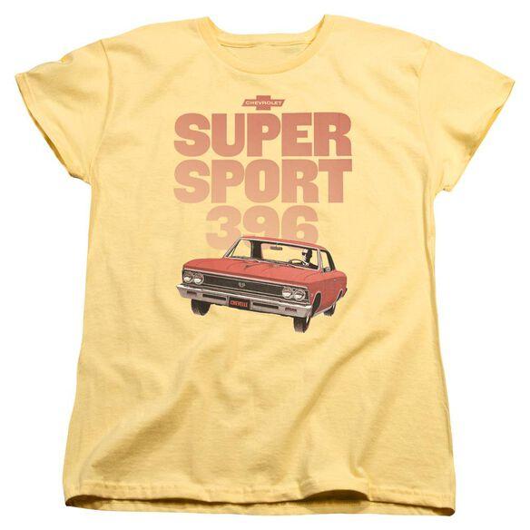 Chevrolet Super Sport 396 Short Sleeve Womens Tee T-Shirt