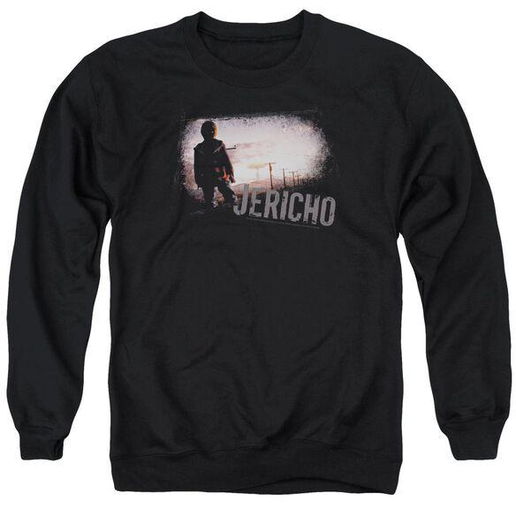 Jericho Mushroom Cloud - Adult Crewneck Sweatshirt - Black