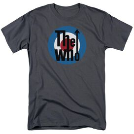 The Who Logo Short Sleeve Adult Charcoal T-Shirt