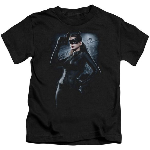 Dark Knight Rises Out On The Town Short Sleeve Juvenile Black T-Shirt