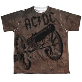 Acdc We Salute You Short Sleeve Youth Poly Crew T-Shirt