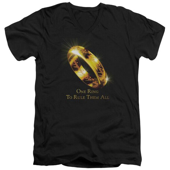 Lor One Ring Short Sleeve Adult V Neck T-Shirt
