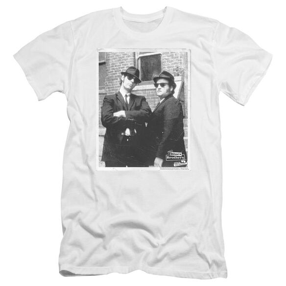 Blues Brothers Brick Wall Premuim Canvas Adult Slim Fit