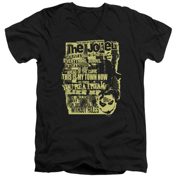 Dark Knight Quote Me On It Short Sleeve Adult V Neck T-Shirt