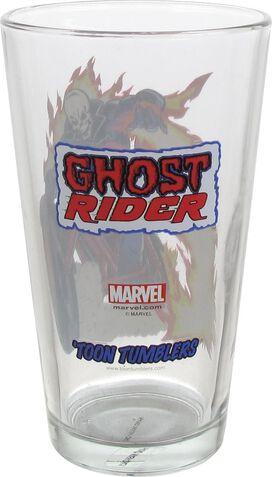 Ghost Rider Bike Toon Tumbler Pint Glass