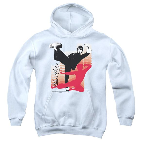 Bruce Lee Kick It Youth Pull Over Hoodie