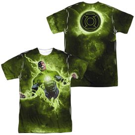Green Lantern Inner Strength (Front Back Print) Short Sleeve Adult Poly Crew T-Shirt