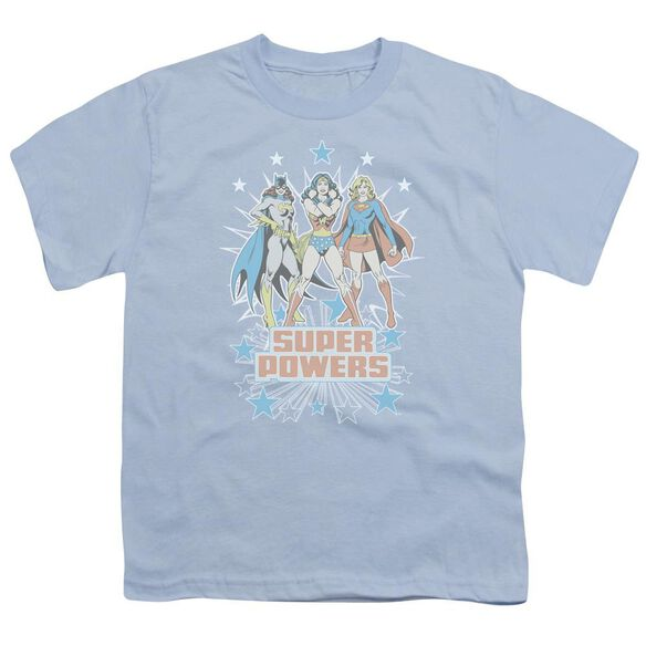 Dc Super Powers X3 Short Sleeve Youth Light T-Shirt