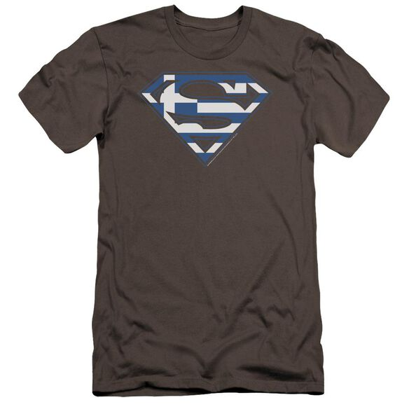 Superman Greek Shield Premuim Canvas Adult Slim Fit