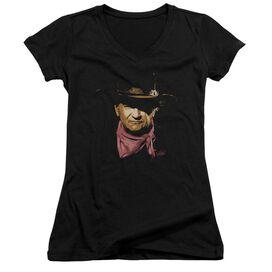 John Wayne Splatter Junior V Neck T-Shirt