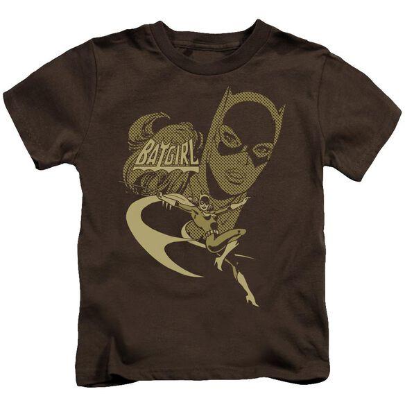 Dc Flying Batgirl Short Sleeve Juvenile Coffee T-Shirt