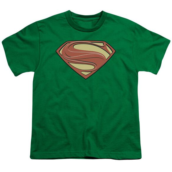 Man Of Steel New Solid Shield Short Sleeve Youth Kelly T-Shirt