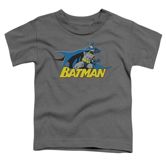BATMAN 8 BIT CAPE - S/S TODDLER TEE - CHARCOAL - T-Shirt