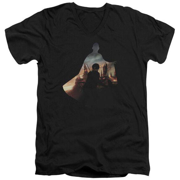 Harry Potter Voldemort Looms Short Sleeve Adult V Neck T-Shirt