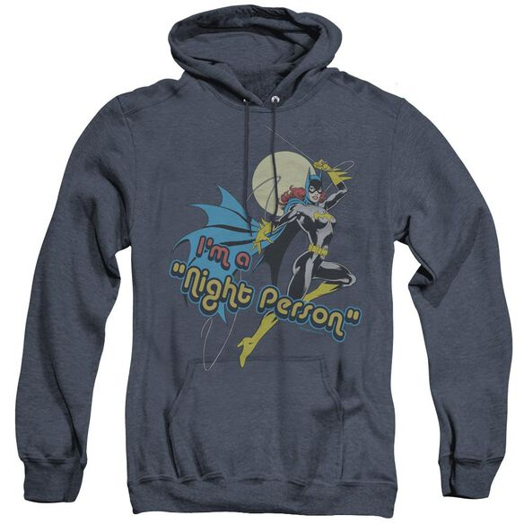 Dc Night Person - Adult Heather Hoodie - Navy