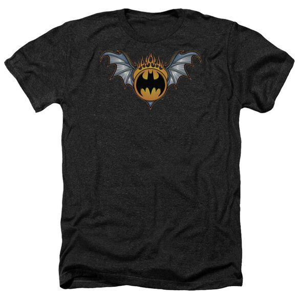 Batman Bat Wings Logo Adult Heather