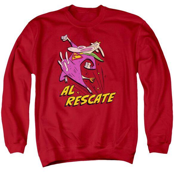Cow And Chicken Al Rescate Adult Crewneck Sweatshirt