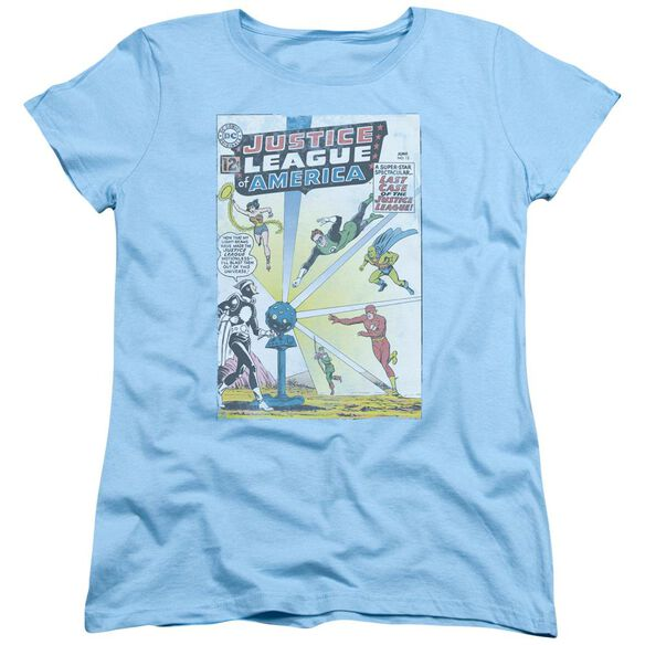 Jla Vintage Cover 12 Short Sleeve Womens Tee Light T-Shirt