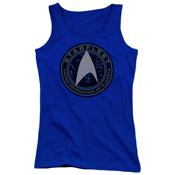 Star Trek Beyond Starfleet Patch Juniors Tank Top Royal