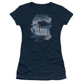 Ice Road Truckers Ice Road Short Sleeve Junior Sheer T-Shirt