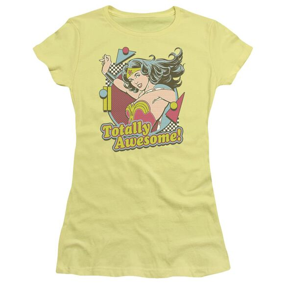 Dc Totally Awesome Short Sleeve Junior Sheer T-Shirt