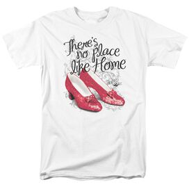 Wizard Of Oz Ruby Slippers Short Sleeve Adult White T-Shirt