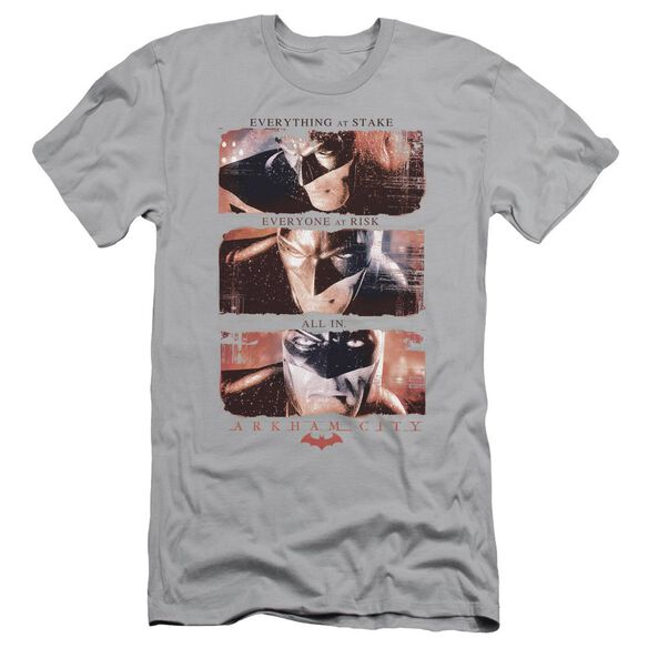 ARKHAM CITY ALL IN - S/S ADULT 30/1 - SILVER T-Shirt