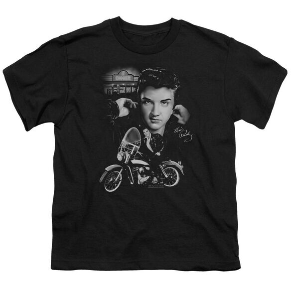 Elvis The King Rides Again Short Sleeve Youth T-Shirt