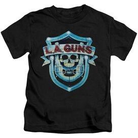 La Guns La Guns Shield Short Sleeve Juvenile Black T-Shirt