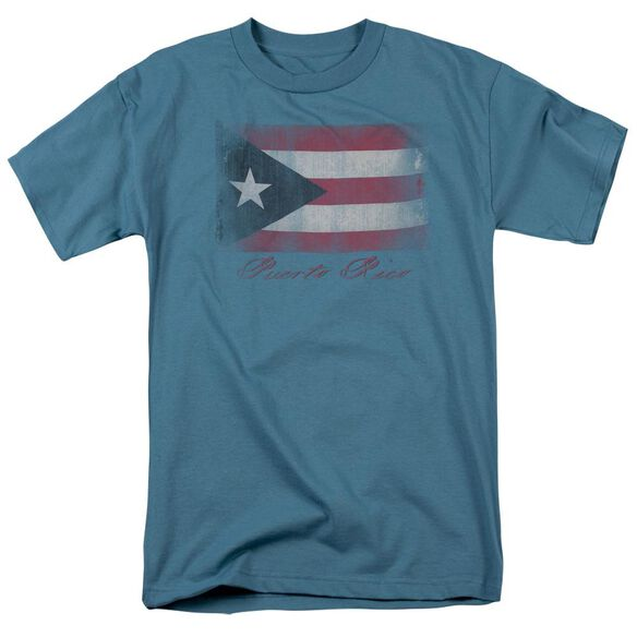 Puerto Rico Flag Short Sleeve Adult Slate T-Shirt