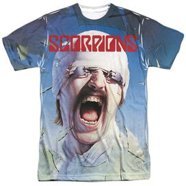 Scorpions Blackout Short Sleeve Adult Poly Crew T-Shirt