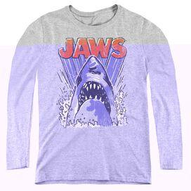 JAWS COMIC SPLASH-WOMENS LONG SLEEVE