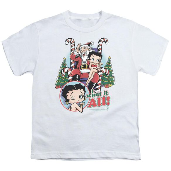 Betty Boop I Want It All Short Sleeve Youth T-Shirt