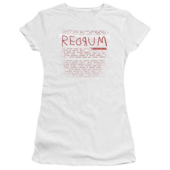 The Shining Redrum Hbo Short Sleeve Junior Sheer T-Shirt