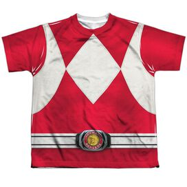 Power Rangers Red Ranger Short Sleeve Youth Poly Crew T-Shirt