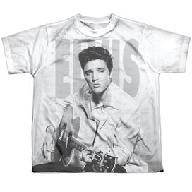 Elvis Play Me A Song Short Sleeve Youth Poly Crew T-Shirt
