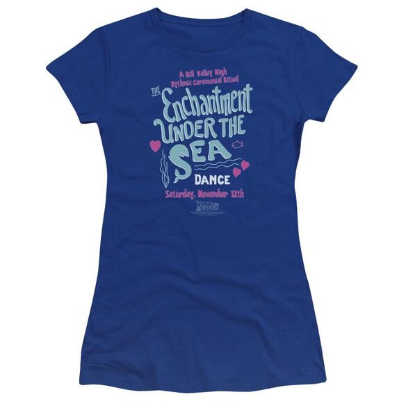 Back To The Future Under The Sea Premium Bella Junior Sheer Jersey Royal