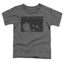 Andy Black Sideways Short Sleeve Toddler Tee Charcoal T-Shirt