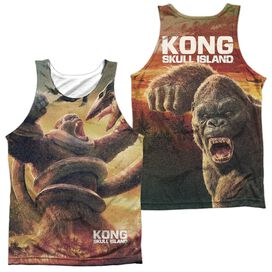 Kong Skull Island The Mighty Jungle (Front Back Print) Adult Poly Tank Top