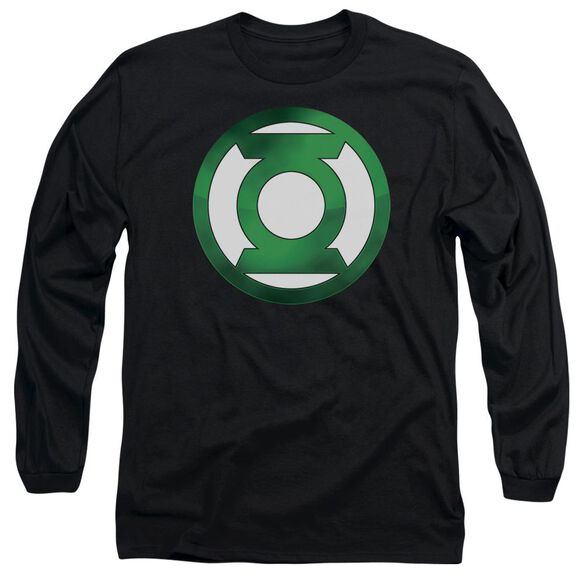 Green Lantern Green Chrome Logo Long Sleeve Adult T-Shirt