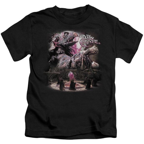 Dark Crystal Power Mad Short Sleeve Juvenile Black T-Shirt