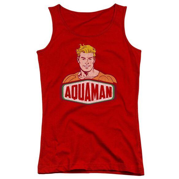 Dco Aquaman Sign Juniors Tank Top