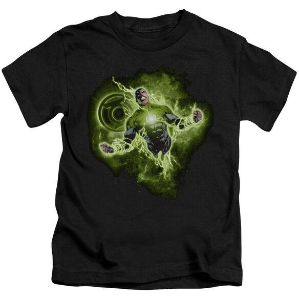 Green Lantern Lantern Nebula Short Sleeve Juvenile Black T-Shirt