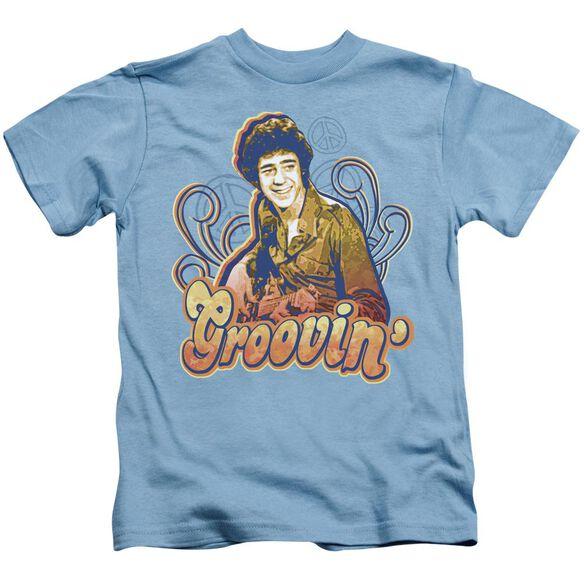 Brady Bunch Groovin Short Sleeve Juvenile Carolina Blue Md T-Shirt