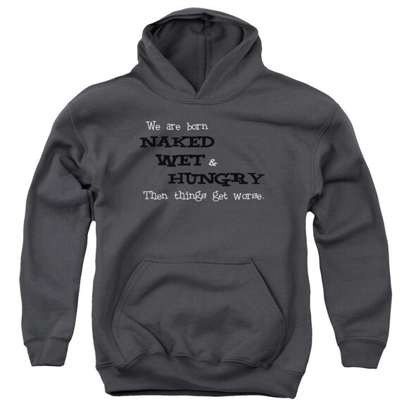 Naked Wet Hungry Youth Pull Over Hoodie